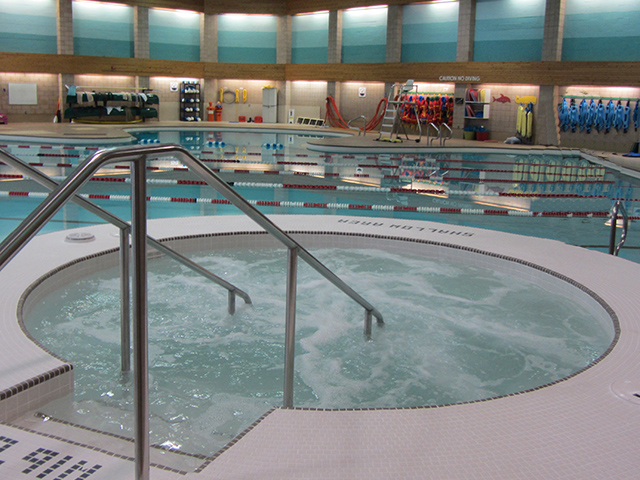Community Pool with Hydro Massage