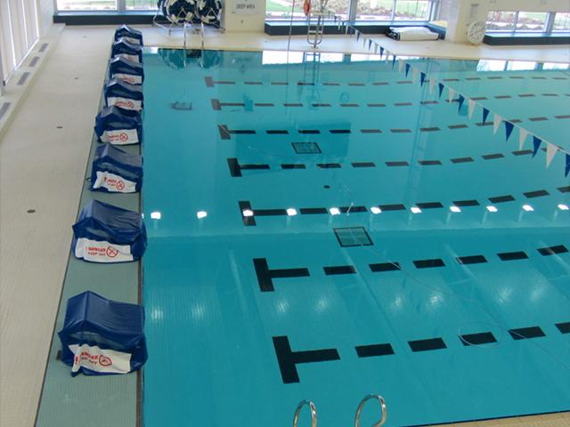 Community pool headwalls
